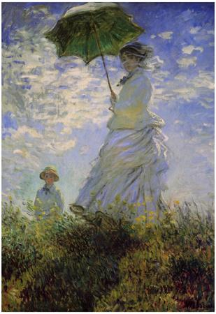 Claude Monet (Woman with a Parasol, 1875) Art Poster Print