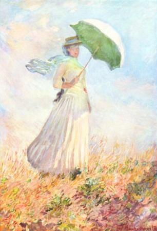 Claude Monet (Woman with a Parasol, 1886) Art Poster Print