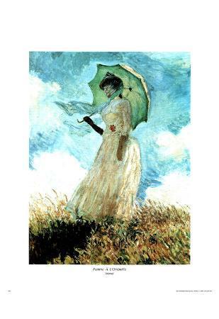 Claude Monet Femma A L'Ombrelle Art Print Poster