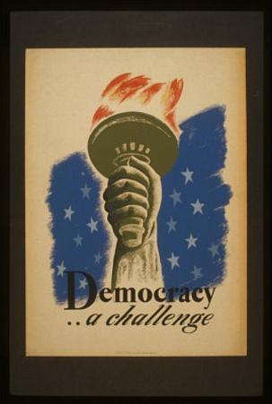 Democracy (A Challenge) Art Poster Print