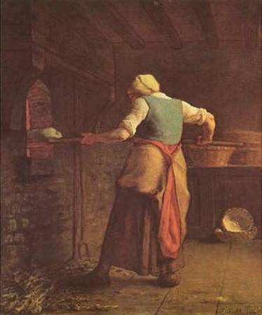 Jean-François Millet (II) (Woman baking bread) Art Poster Print