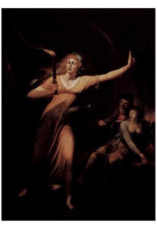 Johann Heinrich Fussli (The schlafwandelnde Lady Macbeth) Art Poster Print