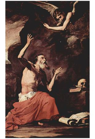 José de Ribera (The St. Jerome and the Archangel of Judgment, Michael) Art Poster Print