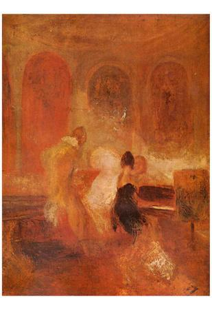 Joseph Mallord William Turner (Music Company, Petworth) Art Poster Print