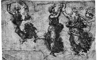 Leonardo da Vinci (Dancing nymphs) Art Poster Print