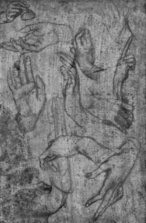 Leonardo da Vinci (Hand studies) Art Poster Print
