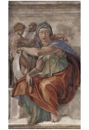 Michelangelo Buonarroti (Ceiling fresco of Creation in the Sistine Chapel, scene in Bezel: The Delp