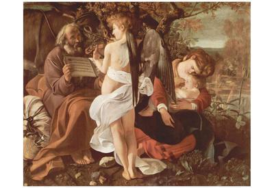 Michelangelo Caravaggio (Resting on the Flight to Egypt) Art Poster Print