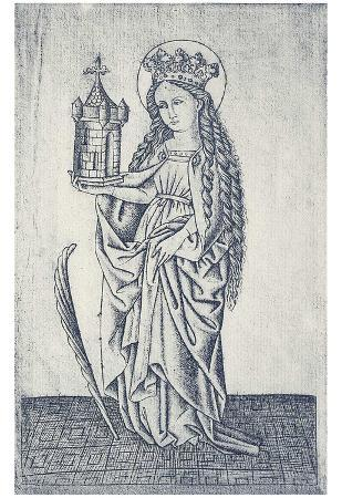 Master of the Nuremberg Passion (St. Barbara) Art Poster Print