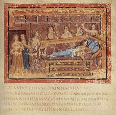 Masters of the Vergilius Vaticanus (The Aeneid of Virgil, Book I, Scene: The death of Dido) Art Pos