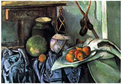 Paul Cezanne (Still Life with Eggplant) Art Poster Print