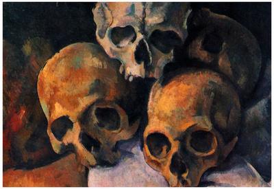 Paul Cezanne (Still lifes, skull pyramid) Art Poster Print
