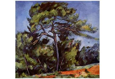 Paul Cezanne (The large pine) Art Poster Print