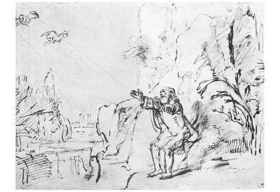 Rembrandt Harmensz. van Rijn (Elia will be supplied by ravens) Art Poster Print