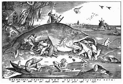 Pieter Brueghel (Big fish eat the little ones) Art Poster Print