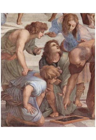 Raffael (Stanza della Segnatura in the Vatican for Pope Julius II, wall fresco: The School of Athen