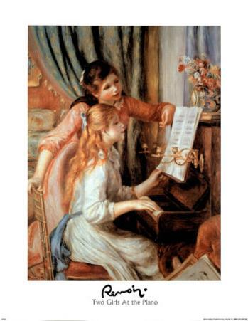 Renoir Two Girl At The Piano Art Print POSTER quality