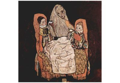 Egon Schiele (Mother with two children (the mother)) Art Poster Print