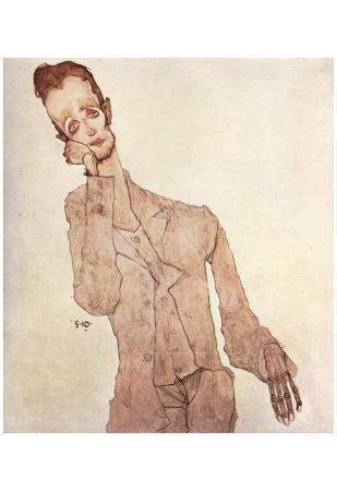 Egon Schiele (Portrait of Karl Zakovsek) Art Poster Print