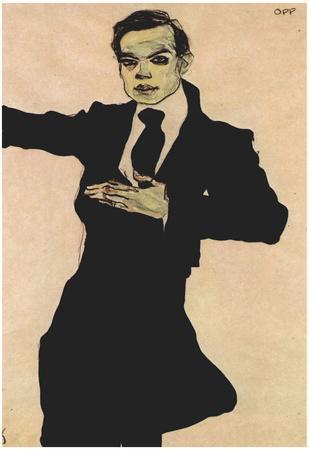 Egon Schiele (Portrait of Max Oppenheimer) Art Poster Print