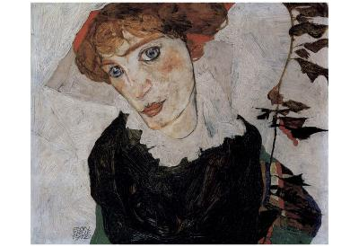Egon Schiele (Portrait of Wally) Art Poster Print