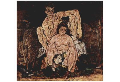 Egon Schiele (The family) Art Poster Print
