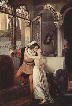 Francesco Hayez (Romeo and Juliet) Art Poster Print
