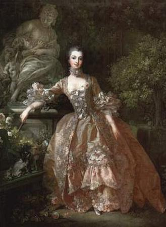 Francois Boucher (Portrait of Madame de Pompadour) Art Poster Print