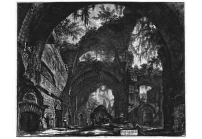 Giovanni Battista Piranesi (Ruins of a sculpture hall in the Hadrian's Villa) Art Poster Print