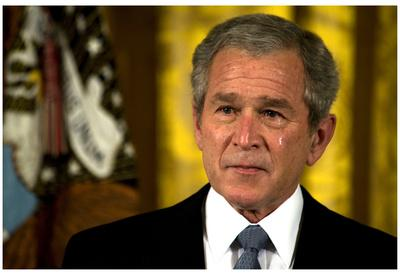 George W Bush (Crying) Art Poster Print