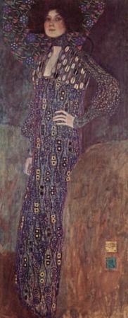 Gustav Klimt (Portrait of Emilie Floge) Art Poster Print