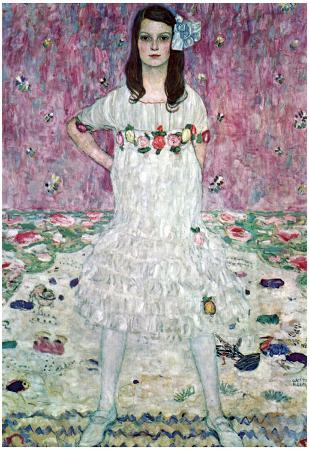 Gustav Klimt (Portrait of Eugenia (Maeda) Primavesi) Art Poster Print