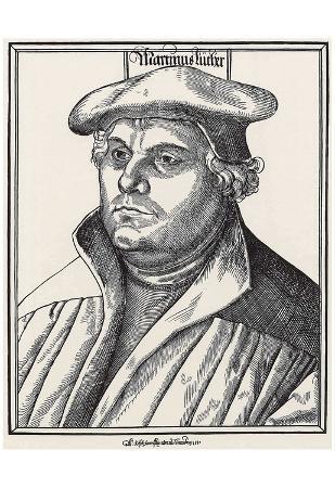 Hans Brosamer (Portrait of Martin Luther) Art Poster Print