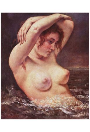 Gustave Courbet (The Bathers) Art Poster Print