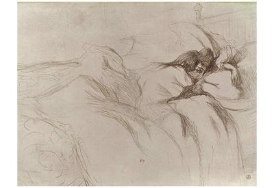 "Henri de Toulouse-Lautrec (Follow the ""Elles"", Sleeping woman) Art Poster Print"