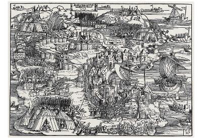 Hans Sebald Beham (Siege of Rhodes) Art Poster Print