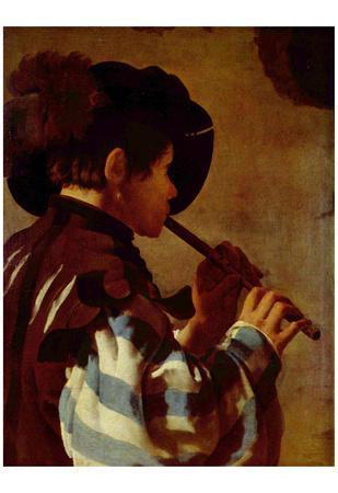 Hendrick Jansz.. Terbrugghen (Flute player) Art Poster Print