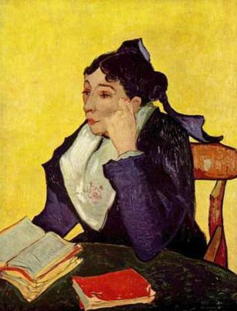 Vincent Van Gogh (L'Arlésienne (Portrait of Mme Ginoux)) Art Poster Print