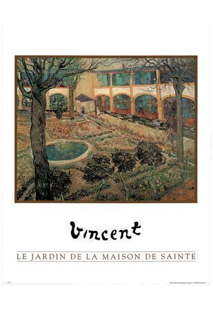 Vincent Van Gogh (Le Jardin De La Maison De Sainte) Art Print Poster