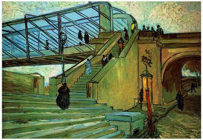 Vincent Van Gogh (The Bridge of Trinquetaille) Art Poster Print