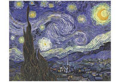 Vincent Van Gogh (The Starry Night) Art Poster Print