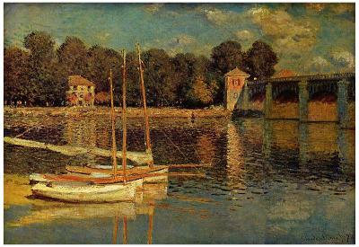 Claude Monet (Bridge at Argenteuil) Art Poster Print
