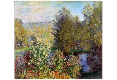 Claude Monet (Corner of the Garden at Montgeron) Art Poster Print