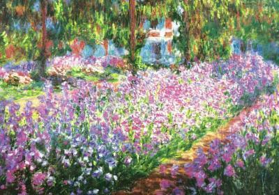 Claude Monet (Garden at Giverny) Art Print Poster