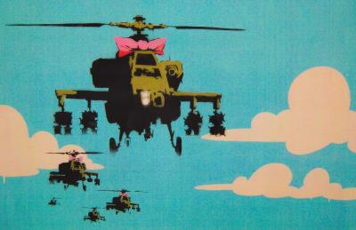 Apache Helicopter with Bow