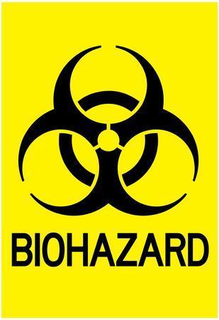 Biohazard Warning Art Poster Print