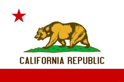 California State Flag Poster Print