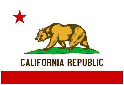 California State Flag Poster Print