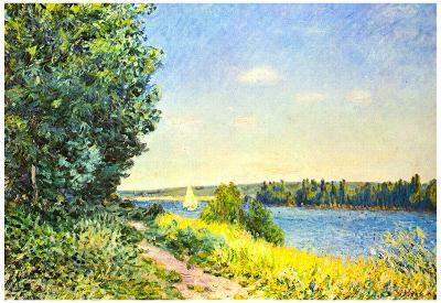 Alfred Sisley Path by the Bay Art Print Poster