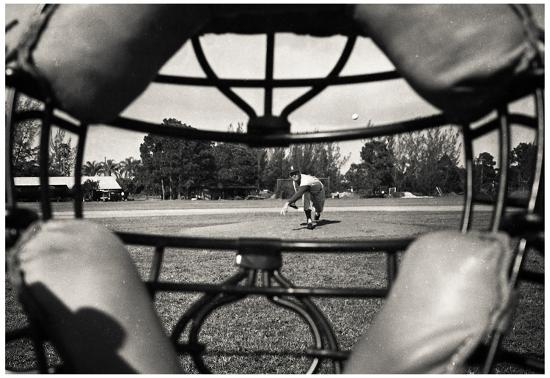 Baseball Catcher Mask View By Barney Stein Archival Photo